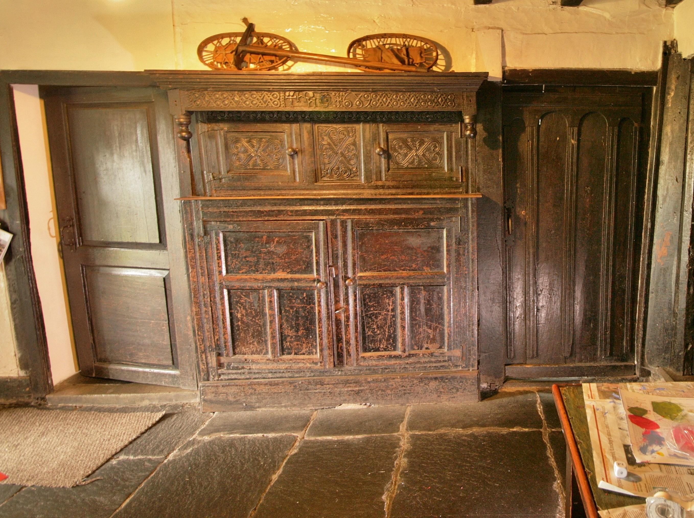 Wonderful Built In Press Cupboard Dated 1689 Rawhead Great