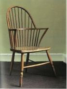 Windsor chair made by Gillows in Lancaster, in the Thames valley tradition. After the outbreak of the American War of Independence Gillows exported large numbers of these 'neat Windsor chairs' to the West Indies islands. Judges Lodgings Museum, Lancaster.