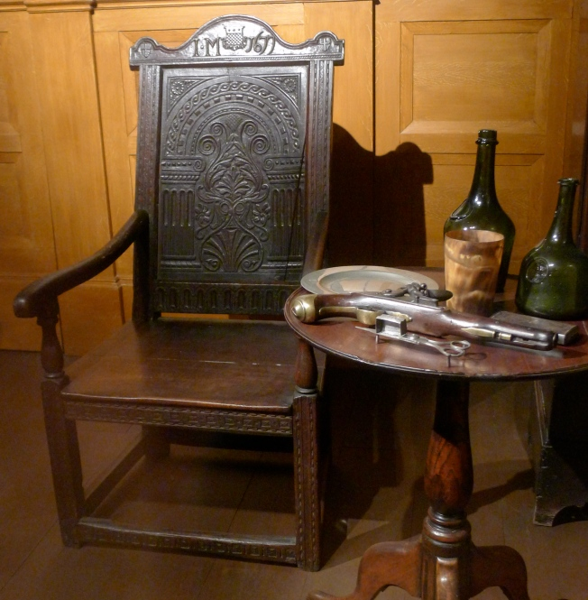 The Mounsey chair at Tullie House Museum, Carlisle