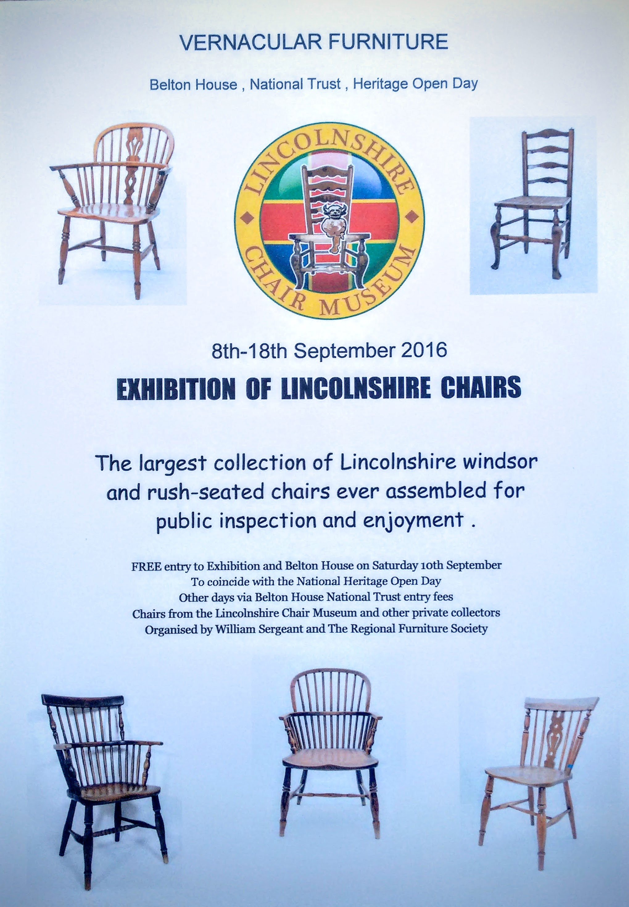 Exhibition Of Lincolnshire Chairs, 8th U2013 18th September 2016 | Regional Furniture  Society