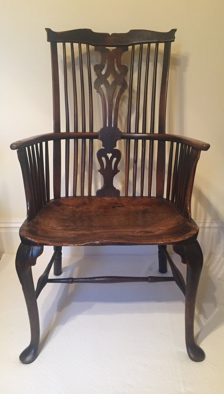 An 18th Century Thames Valley Cabriole Leg Comb Back Armchair