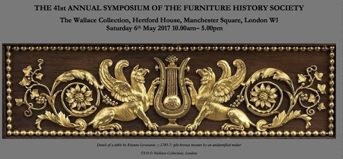 Date for your diary furniture history society annual for Furniture history society