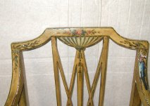 Figure1 Detail of a Gillows Lozenge back chair